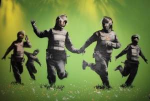 banksy - Riot Police in Field