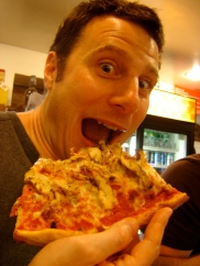 Me at Bleeker Street Pizza, New York